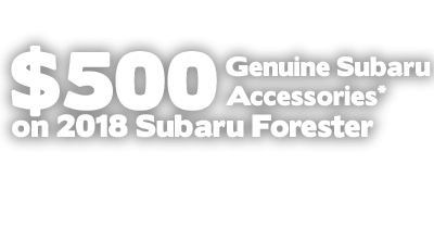 500 dollar genuine subaru accessories on 2018 subaru forester