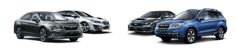 4 different car models with colors silver, gray, and blue