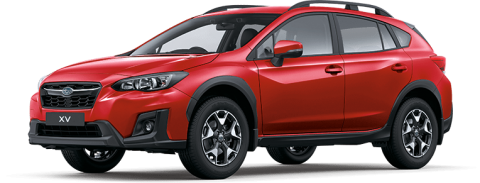 Red Subaru XV