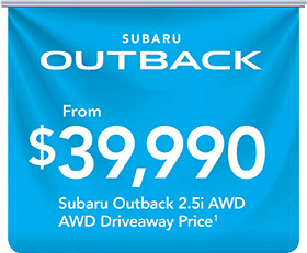 City Subaru - Subaru Outback Banner