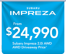 City Subaru - Subaru Impraza Banner