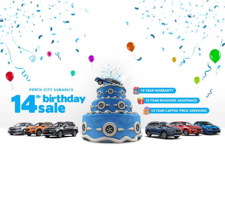 City Subaru - 14 birth Day Banner