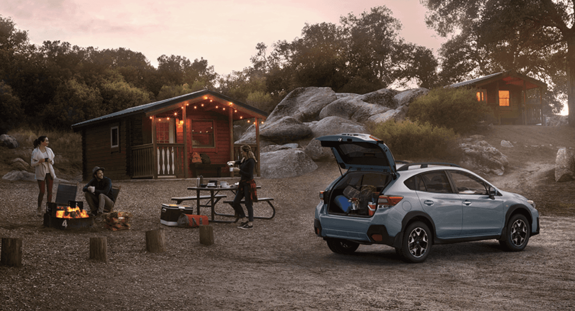 camping with subaru xv